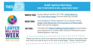 Lawyers Well-Being Tuesday – ALIGN