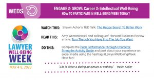Lawyers Well-Being Wednesday: ENGAGE & GROW