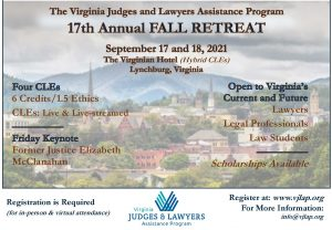 The 17th Annual VJLAP Fall Retreat Is Just Weeks Away